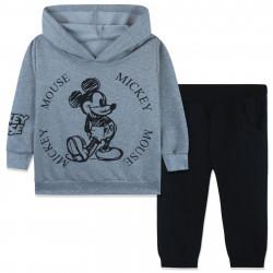 Костюм для мальчика, серый. Нарисованный Микки Маус.