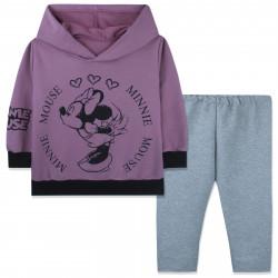 Костюм для девочки, лиловый. Модница Минни Маус.