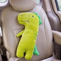 Накладка мягкая на ремень безопасности, подушка под шею. Динозавр Рекс. 48*23 см.