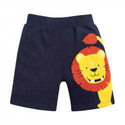 Шорты для мальчика, темно-синие. Веселый лев.