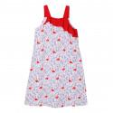 Ночная рубашка для девочки, ночнушка, белая. Фламинго и цветы.