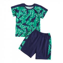 Пижама для мальчика, зеленая. Акулы.