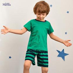 Пижама для мальчика, зеленая. Лягушка.