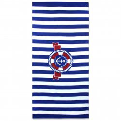 Полотенце банное, синее. Спасательный круг. 70 см * 150 см. Микрофибра.