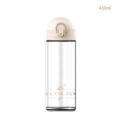 Бутылка стеклянная, молочная. La Vie Zen. 450 мл.