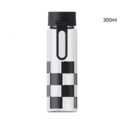 Бутылка стеклянная, черная. Кубики. 300 мл.