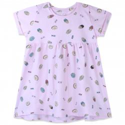 Платье для девочки, нежно-розовое. Сладости.