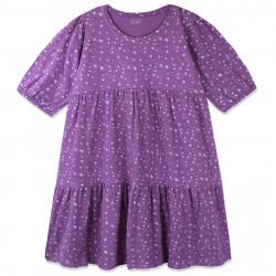 Платье для девочки, фиолетовое. Звездная россыпь.