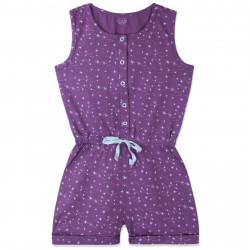 Комбинезон для девочки, ромпер, фиолетовый. Звездная россыпь.