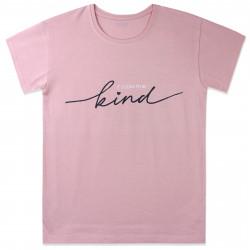 Футболка для девочки, пудровая. It's cool to be kind.