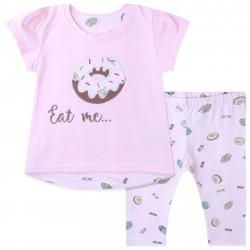 Костюм для девочки, розовый. Сладкий пончик.