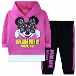 Костюм для девочки, розовый. Минни Маус и бант.