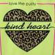 Кофта для девочки, лимонная. Леопардовое сердце.