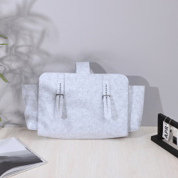 Сумка-органайзер, сумка-переноска, светло-серый. Фетр.