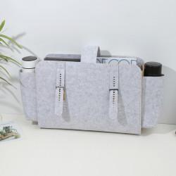 Сумка-органайзер, сумка-переноска, серый меланж. Фетр.