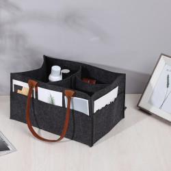 Сумка-органайзер, сумка-переноска, черный. Стильный фетр.
