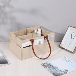 Сумка-органайзер, сумка-переноска, бежевый. Стильный фетр.