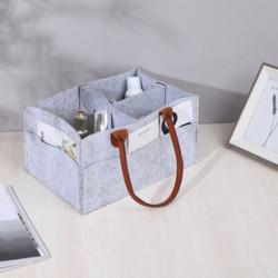 Сумка-органайзер, сумка-переноска, серый. Стильный фетр.