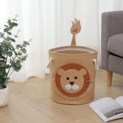 Корзина фетровая для игрушек с игровым ковриком-мешком