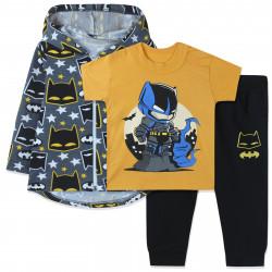 Костюм для мальчика тройка, желтый. Бэтмен и ночной город.
