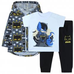 Костюм для мальчика тройка, белый. Бэтмен и ночной город.