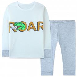 Пижама для мальчика, серая. Roar.