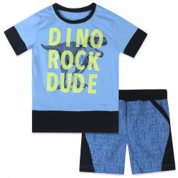 Костюм 2 в 1 для мальчика, голубой. Dino rock dude.