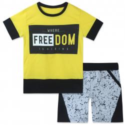 Костюм 2 в 1 для мальчика, желтый. Freedom.