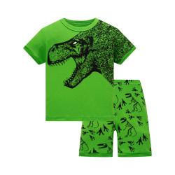 Пижама для мальчика, салатовая. Опасный Рекс.