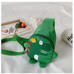Рюкзак через плечо , мини-рюкзак, рюкзак на одно плечо, зеленый. Динозавр - король.