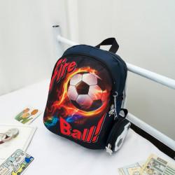 Детский рюкзак, темно-синий. Огненный мяч.