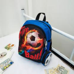 Детский рюкзак, синий. Огненный мяч.