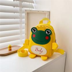 Детский рюкзак, желтый. Лягушонок с короной.