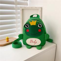 Детский рюкзак, зеленый. Лягушонок с короной.