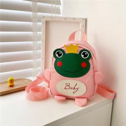 Детский рюкзак, розовый. Лягушонок с короной.