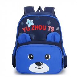 Детский рюкзак, школьный, синий. Мишутка.