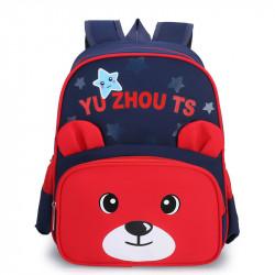 Детский рюкзак, школьный, красный. Мишутка.