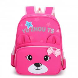 Детский рюкзак, школьный, розовый. Мишутка.