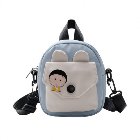 Сумка детская, сумка через плечо, голубая. Анимешка.