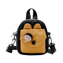 Сумка детская, сумка через плечо, черная. Анимешка.