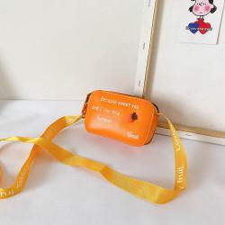 Сумка детская, сумка через плечо, оранжевая. Апельсин.