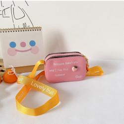 Сумка детская, сумка через плечо, розовая. Персик.