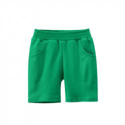 Шорты для мальчика, зеленые. Однотонные.