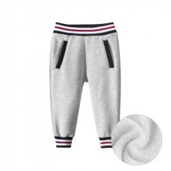 Утепленные штаны детские спортивные, серые. Спорт.