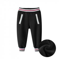 Утепленные штаны детские спортивные, черные. Спорт.