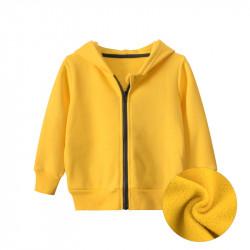Утепленная кофта для мальчика, спортивная, желтая. Спорт.