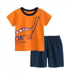 Костюм для мальчика 2 в 1, оранжевый. Диплодок.