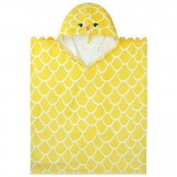 Полотенце-пончо, пончо, желтое. Золотая рыбка. 60*70 см.