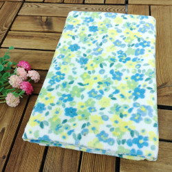 Полотенце банное, синее. Нежные цветочки. 60*120 см. Хлопок.