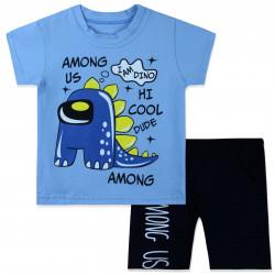 Костюм для мальчика, голубой. Dino Among Us.